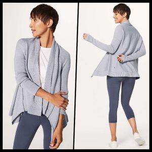 Lululemon Wrap It Up Merino Wool Cardigan Gray 4